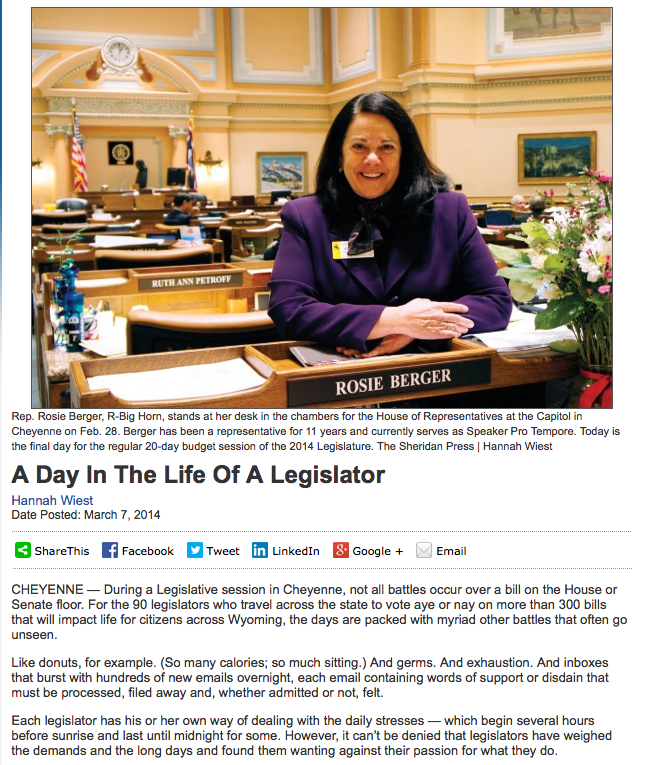 A day in the life of Rep. Berger